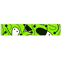 Playful abstract art - green Flano Scarf (Large)