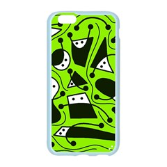 Playful abstract art - green Apple Seamless iPhone 6/6S Case (Color)