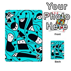 Playful abstract art - cyan Playing Cards 54 Designs