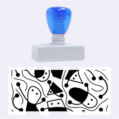 Playful abstract art - cyan Rubber Stamps (Large)