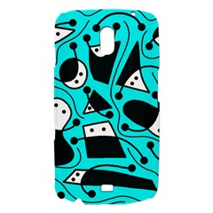 Playful abstract art - cyan Samsung Galaxy Nexus i9250 Hardshell Case