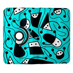 Playful abstract art - cyan Samsung Galaxy Note II Flip 360 Case
