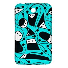Playful abstract art - cyan Samsung Galaxy Tab 3 (7 ) P3200 Hardshell Case