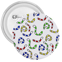 Colorful worms  3  Buttons