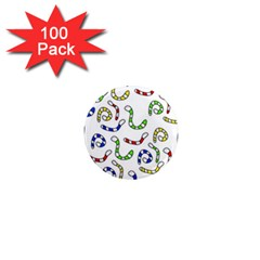 Colorful worms  1  Mini Magnets (100 pack)