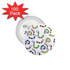 Colorful worms  1.75  Buttons (100 pack)