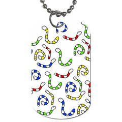 Colorful worms  Dog Tag (Two Sides)