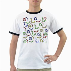 Colorful worms  Ringer T-Shirts
