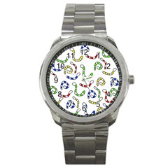 Colorful worms  Sport Metal Watch