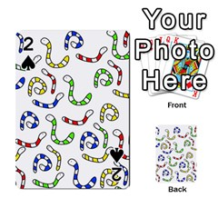 Colorful worms  Playing Cards 54 Designs