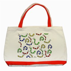 Colorful worms  Classic Tote Bag (Red)