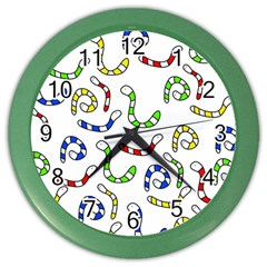 Colorful worms  Color Wall Clocks