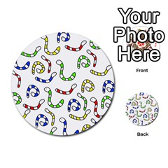 Colorful worms  Multi-purpose Cards (Round)