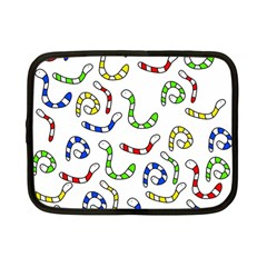 Colorful worms  Netbook Case (Small)