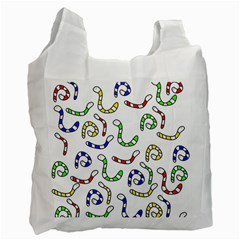 Colorful worms  Recycle Bag (Two Side)