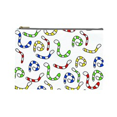 Colorful worms  Cosmetic Bag (Large)