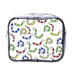 Colorful worms  Mini Toiletries Bags