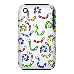 Colorful worms  Apple iPhone 3G/3GS Hardshell Case (PC+Silicone)