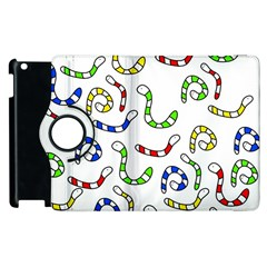 Colorful worms  Apple iPad 3/4 Flip 360 Case