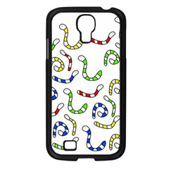 Colorful worms  Samsung Galaxy S4 I9500/ I9505 Case (Black)