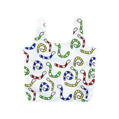 Colorful worms  Full Print Recycle Bags (S)