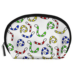 Colorful worms  Accessory Pouches (Large)