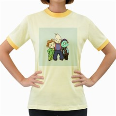 Fred, Sloth, Maurice  Women s Fitted Ringer T-Shirts