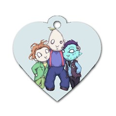 Fred, Sloth, Maurice  Dog Tag Heart (Two Sides)