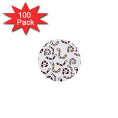 Cute worms 1  Mini Buttons (100 pack)