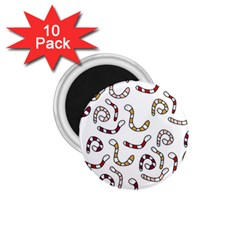 Cute worms 1.75  Magnets (10 pack)