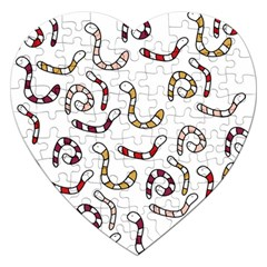Cute worms Jigsaw Puzzle (Heart)