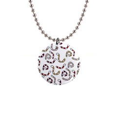 Cute worms Button Necklaces