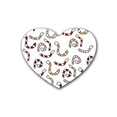 Cute worms Heart Coaster (4 pack)