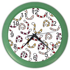 Cute worms Color Wall Clocks