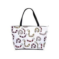 Cute worms Shoulder Handbags