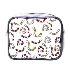 Cute worms Mini Toiletries Bags