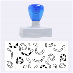 Cute worms Rubber Stamps (Large)