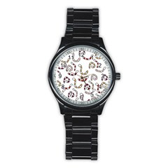 Cute worms Stainless Steel Round Watch