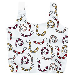Cute worms Full Print Recycle Bags (L)