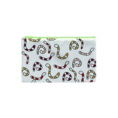 Cute worms Cosmetic Bag (XS)