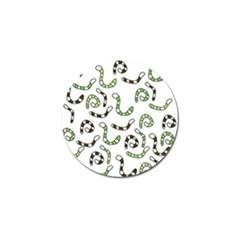 Green worms Golf Ball Marker