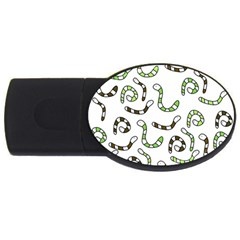 Green worms USB Flash Drive Oval (4 GB)