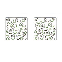 Green worms Cufflinks (Square)