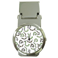 Green worms Money Clip Watches