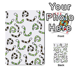 Green worms Multi-purpose Cards (Rectangle)