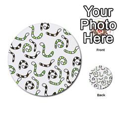 Green worms Multi-purpose Cards (Round)