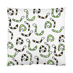 Green worms Standard Cushion Case (Two Sides)
