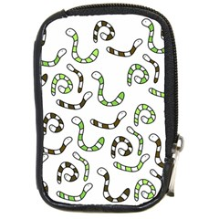 Green worms Compact Camera Cases