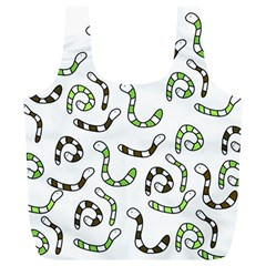 Green worms Full Print Recycle Bags (L)