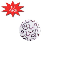 Purple worms 1  Mini Magnet (10 pack)